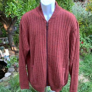 SCANDIA WOODS Full Zip Cardigan Sweater Sz XL
